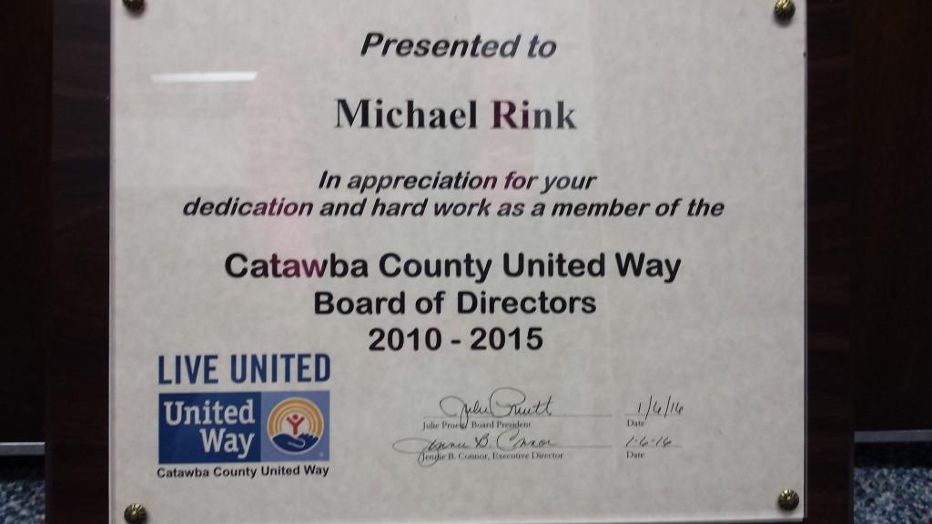 Catawba County United Way Board of Director